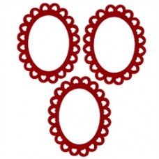 Adhesive oval frame