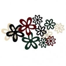Adhesive felt flowers